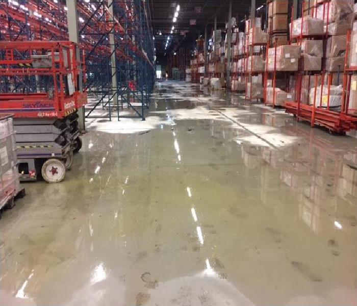 Commercial Water Damage in Burnaby Before