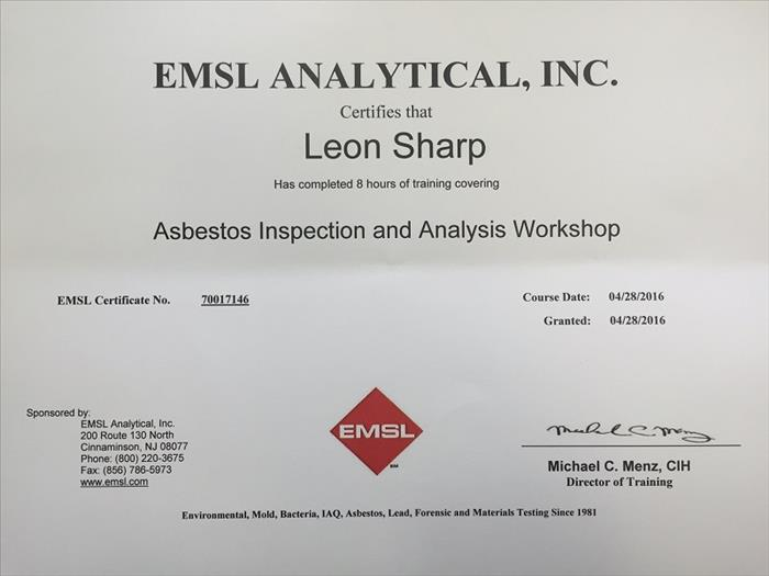 Asbestos Inspection & Training Workshop