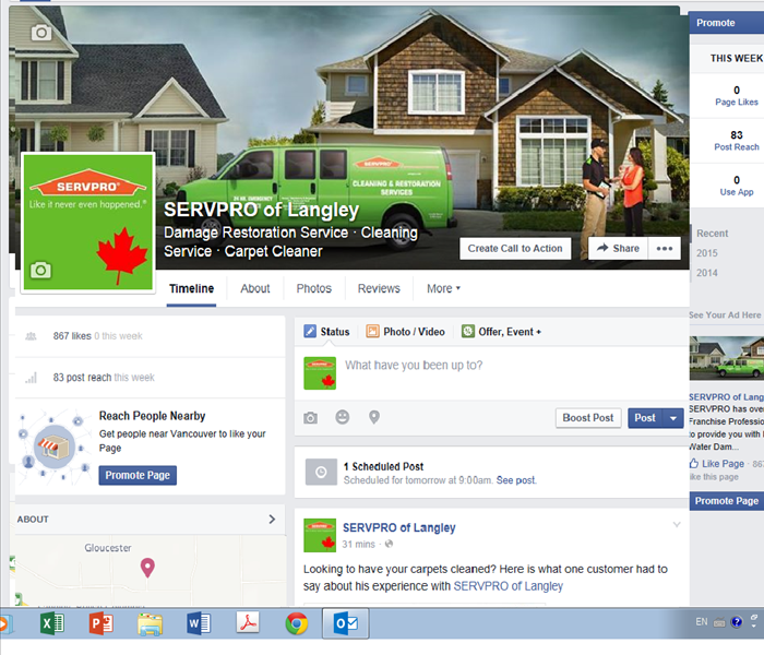 General SERVPRO of Langley's Social Media Sites
